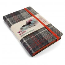 Tartan Cloth Notebook Pocket: Castle Grey (Jun)