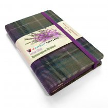 Tartan Cloth Notebook Pocket: Heather (Jun)