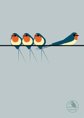 I Like Birds: Swallows Notebook (Apr)