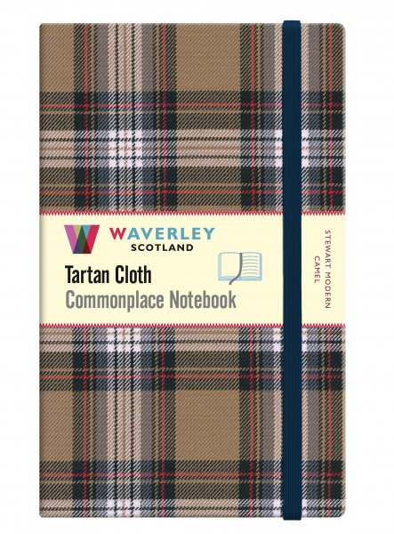 Tartan Cloth Notebook Large: Stewart Modern Camel