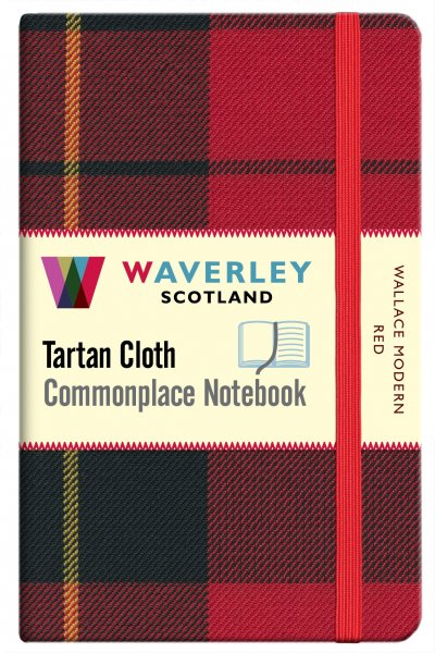 Tartan Cloth Notebook Pocket: Wallace Modern Re