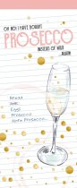 Shopping List Pad Prosecco (Feb)