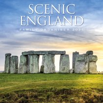 2021 Calendar Scenic England Family Organiser (2 for £6v) (Mar)