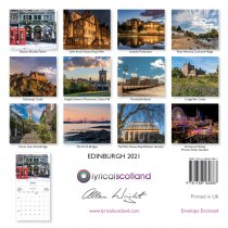 2021 Calendar Edinburgh (Mar)