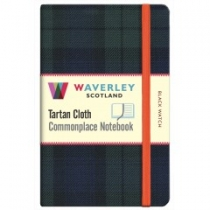 Tartan Cloth Notebook: Black Watch
